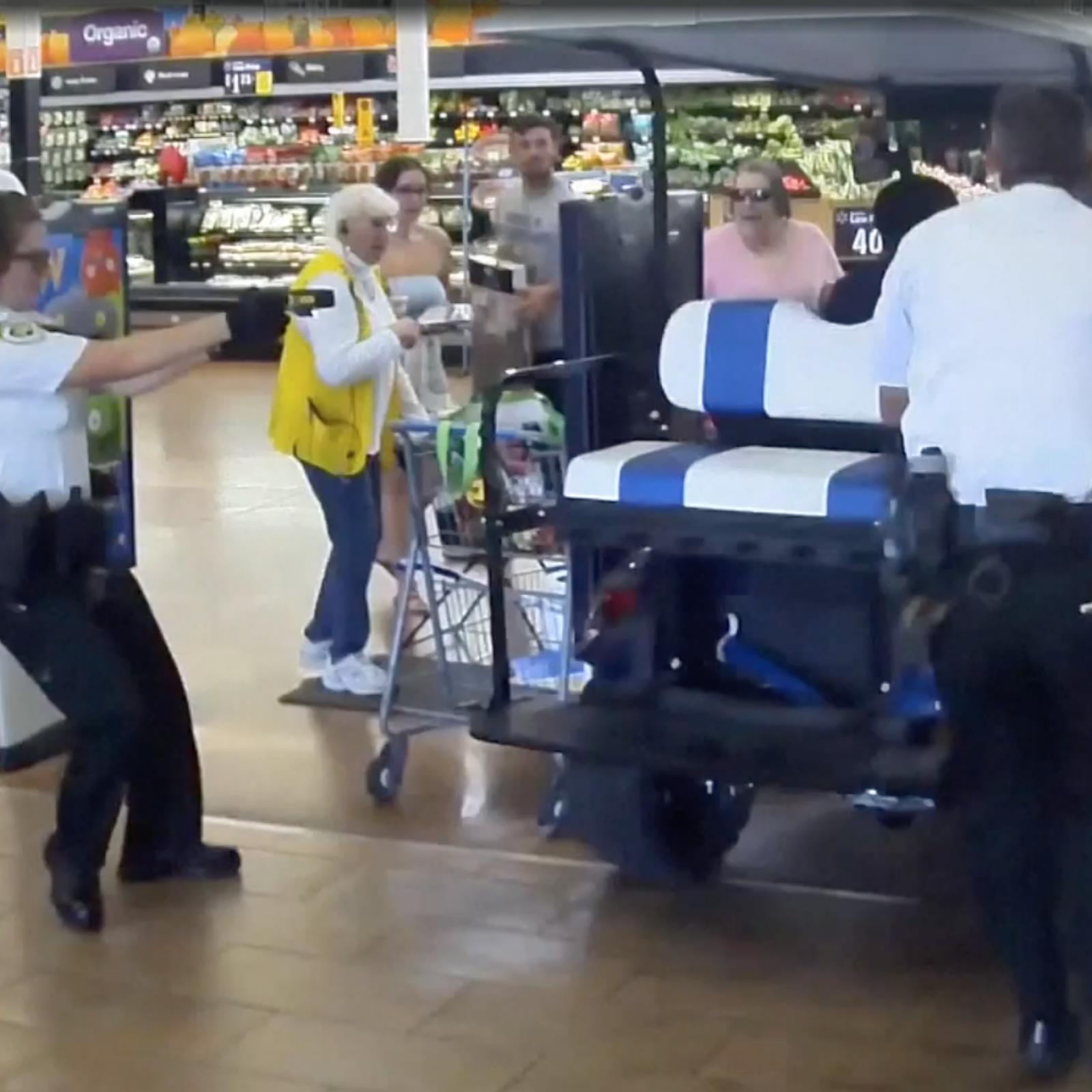 Video: Florida Man Driving Golf Cart Speeds Into Walmart, Striking