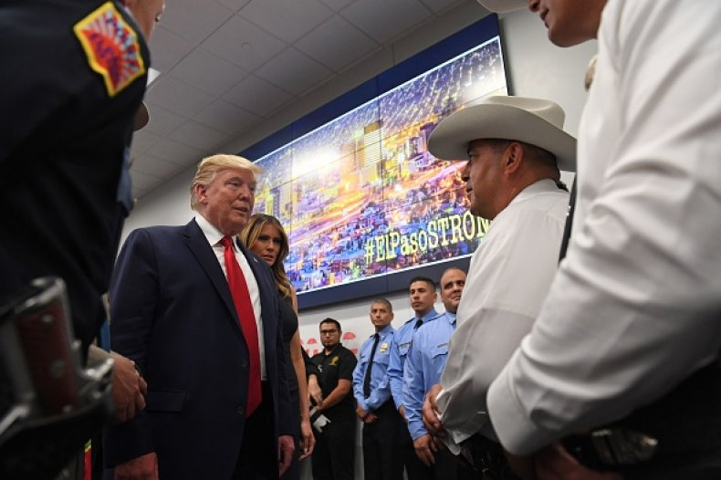 trump visits el paso after mass shooting
