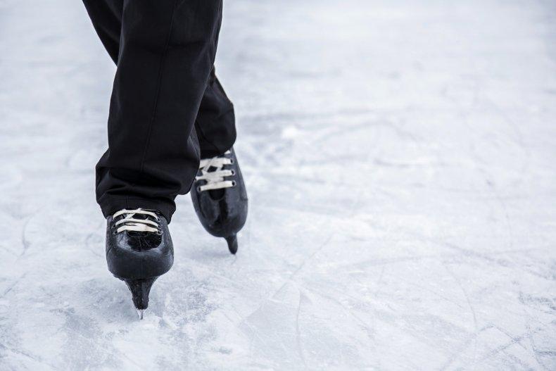 figure skating stock image