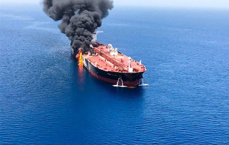 oil tanker explosion gulf oman