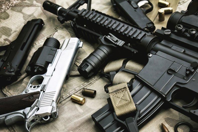 guns stock photo