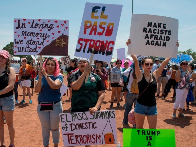 el paso residents protest trump visit