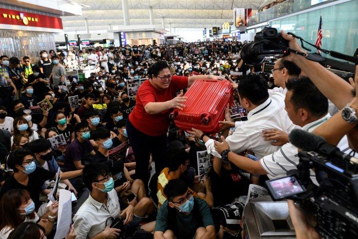 hong kong airport protests china