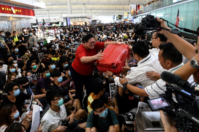 hong kong airport protests china