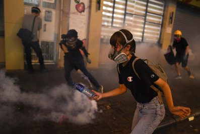 china hong kong protests tear gas