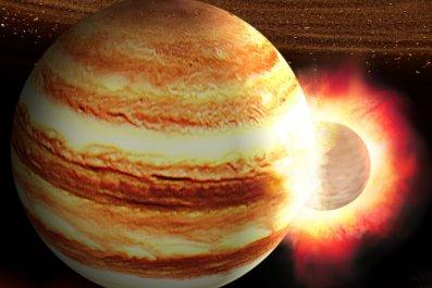 Jupiter collision