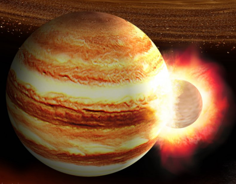 Jupiter collision