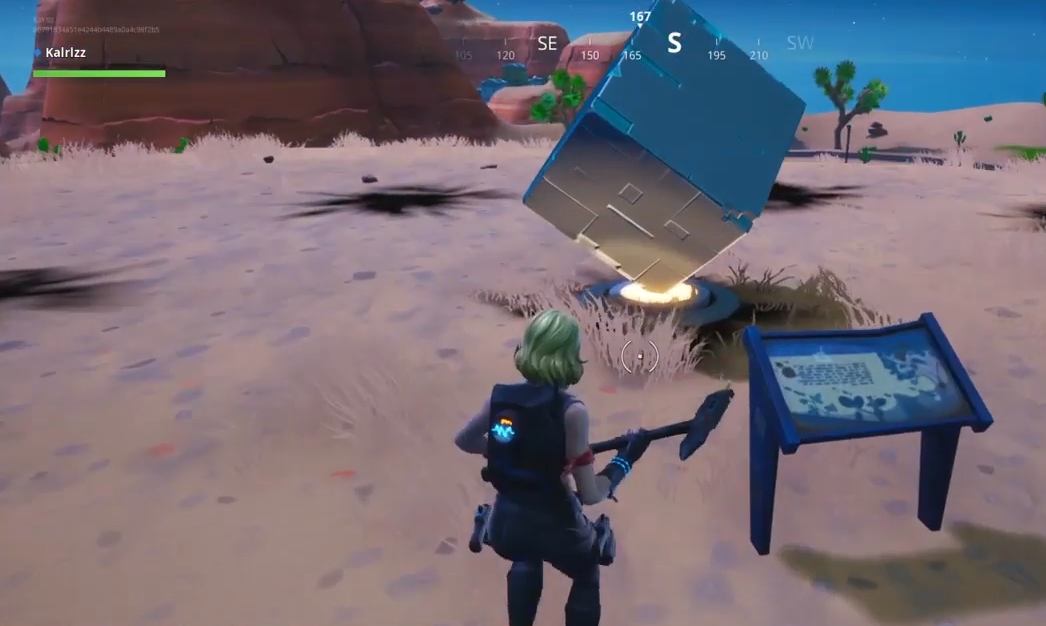 Fortnite Memorial To Cube Desert Lake Rift Zone