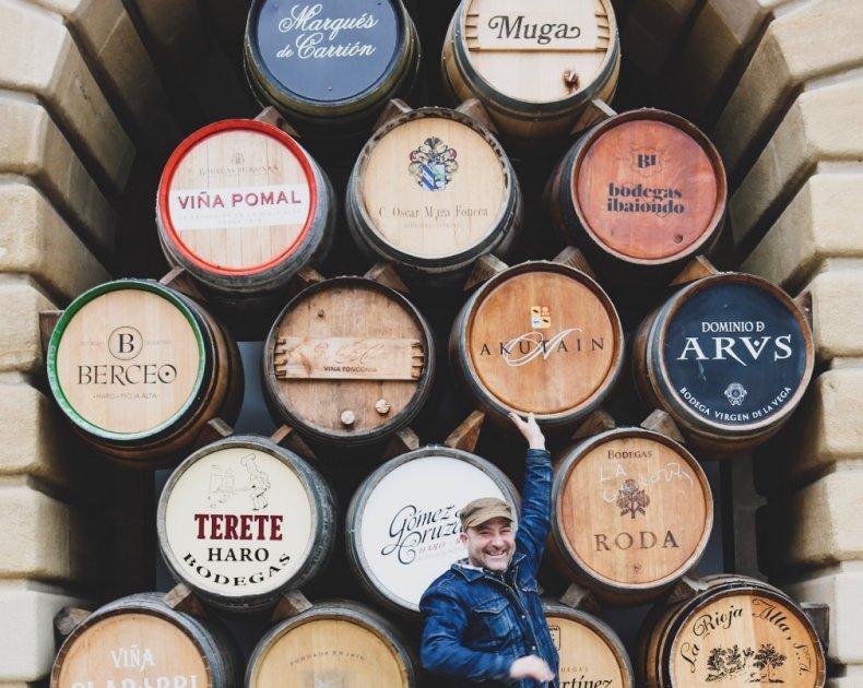 wine barrels Spain