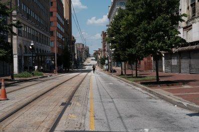 Baltimore empty street