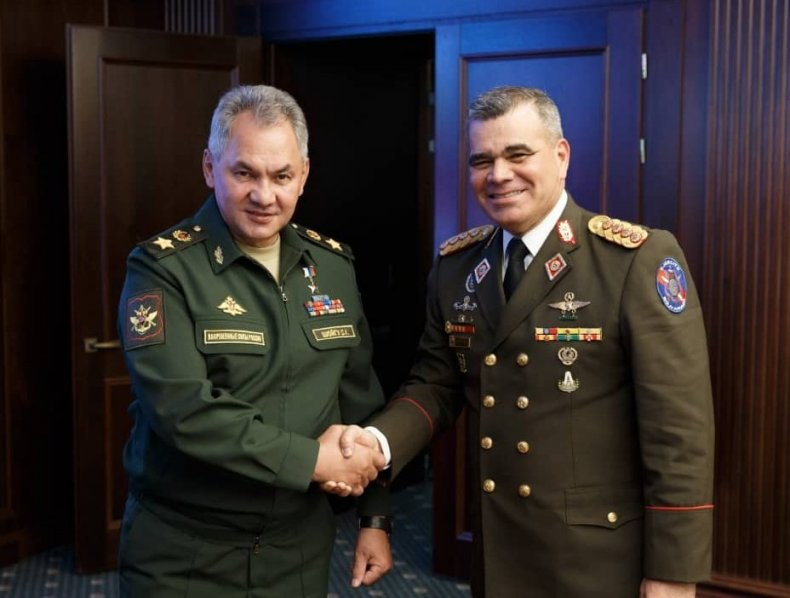 defense ministers russia shoigu venezuela padrino military
