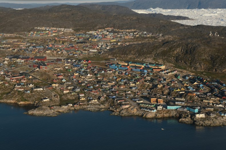 Greenland aerial shot
