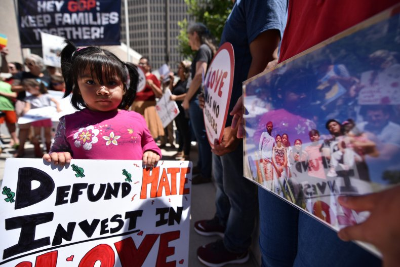 Immigrant child protest