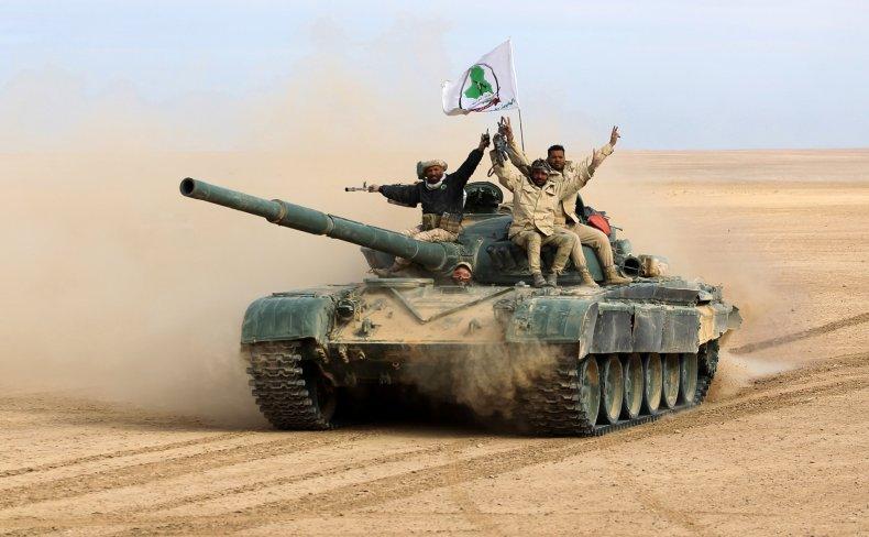 iraq militias isis tank war