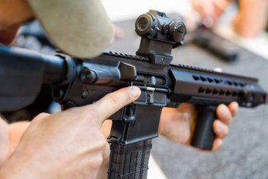 automatic rifle stock photo