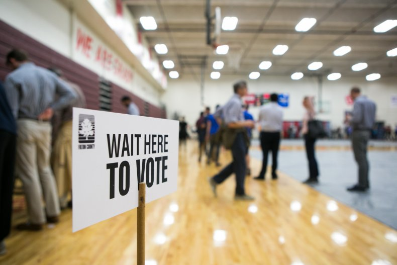 Atlanta voting sign