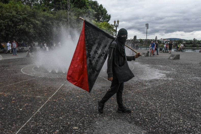 Antifa protester