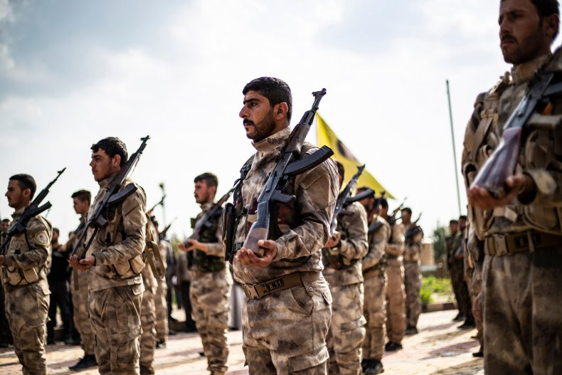 syria ypg kurdish fighters