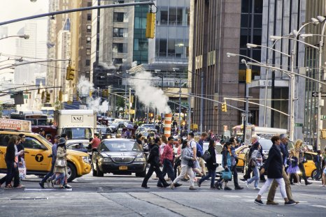 new york, air pollution city, walking, gettty,