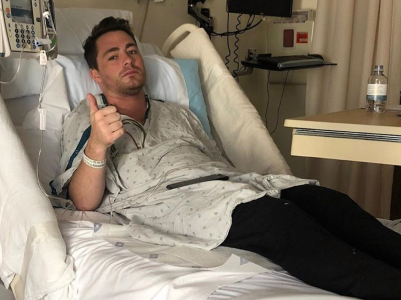 Colton Haynes Posts Hospitalization Selfie Doesn T Want His Legacy To Be If I Look Hot Or Not On Instagram