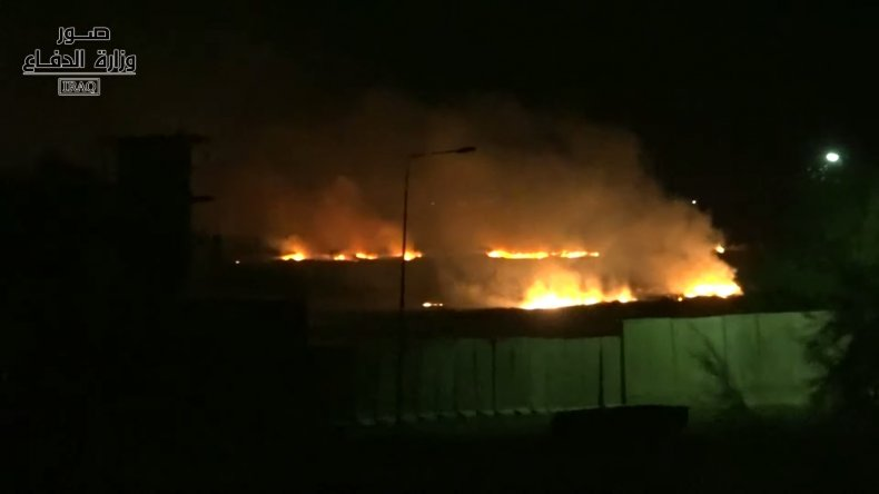 iraq explosion military base