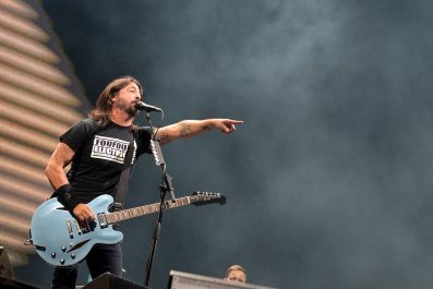 Dave Grohl of Foo Fighters performs on Sziget Festival