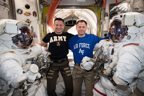 NASA astronauts, Nick Hague, Andrew Morgan