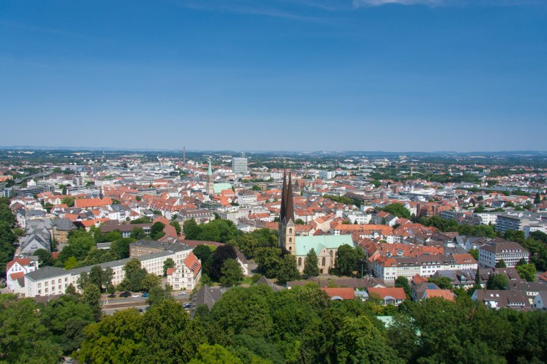 Aerial view of Bielefeld Germany