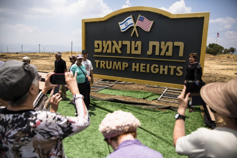 Trump Heights in Israel