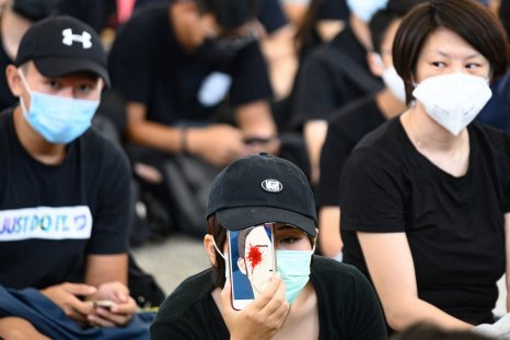 Hong Kong protest/ mobile phone