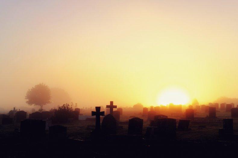 graveyard stock photo