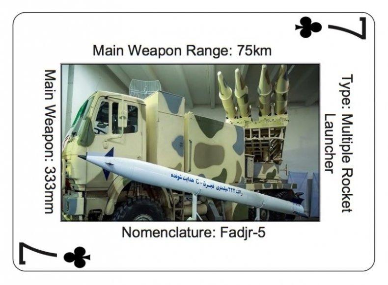 iran fadjr rocket card us military
