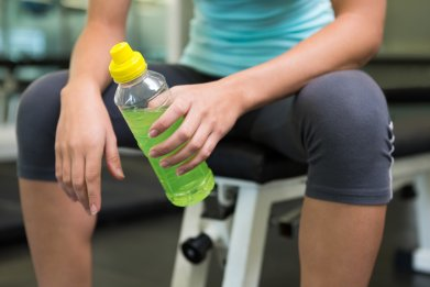 gym, exercise, fitness, energy drink, stock, getty,