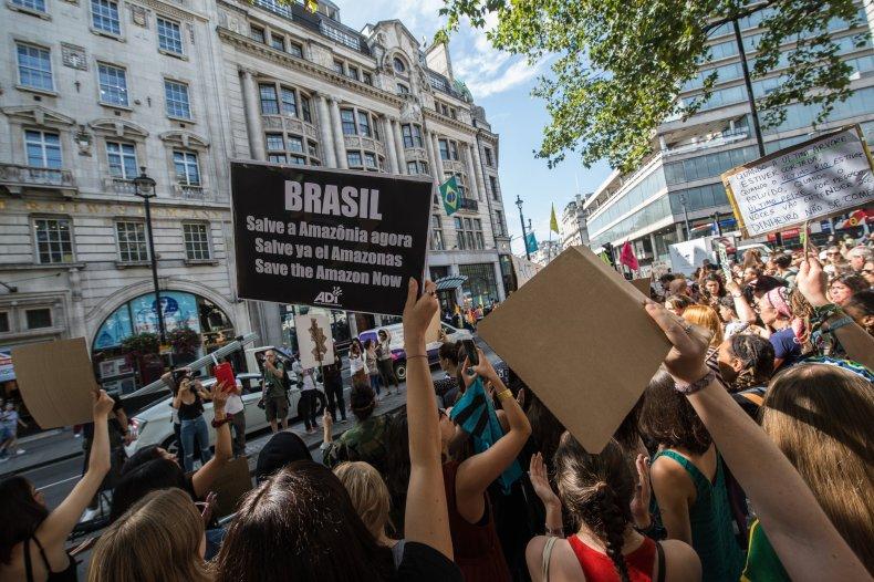 Amazon rainforest protests
