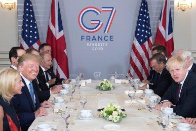 Trump Johnson G7 Breakfast