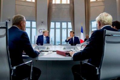 Donald Trump and Macron