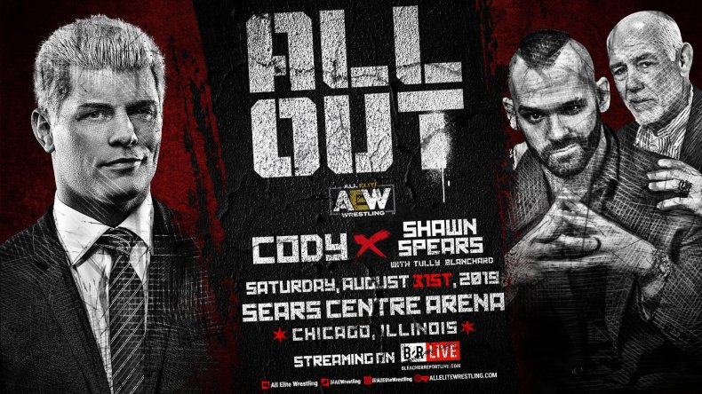 cody vs shawn spears aew all out