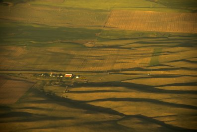 Farmland in southern North Dakota