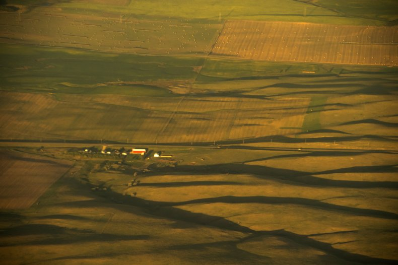 Farmland in southern North Dakota