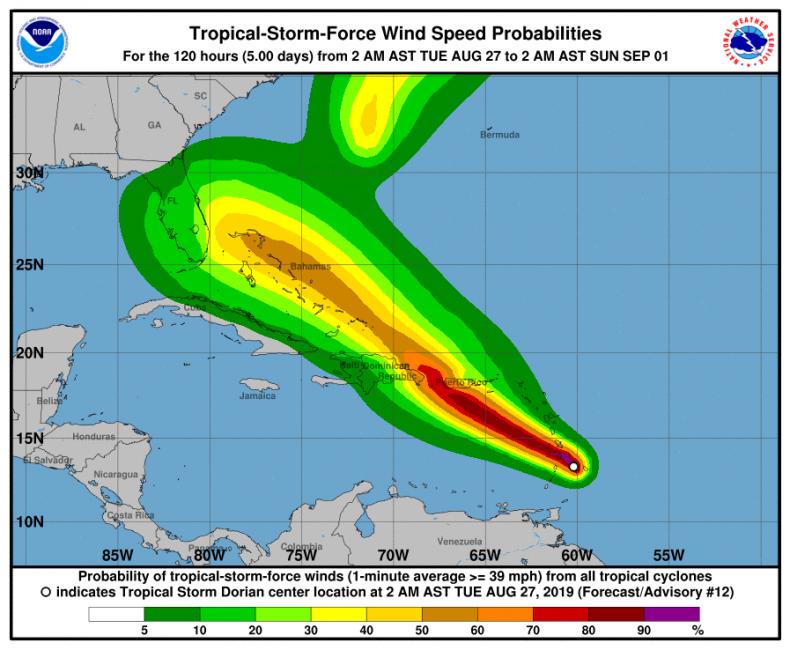 tropical storm dorian florida