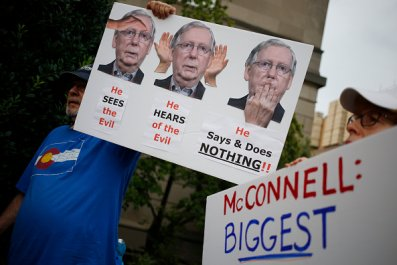 gun control activists protest mitch mcconnell