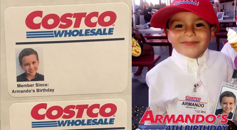 Armando Martinez Costco birthday party