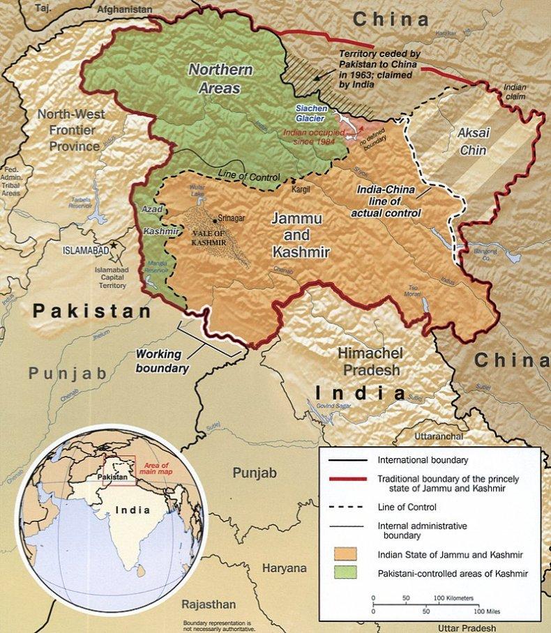 india border dispute kashmir pakistan
