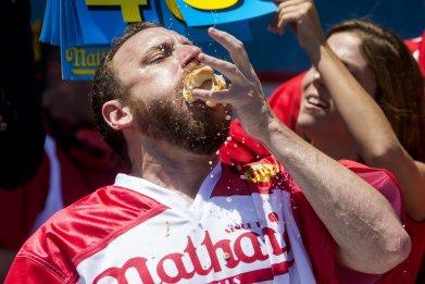 Joey ChestnutHot Dog Eating ContestConey Island July 4