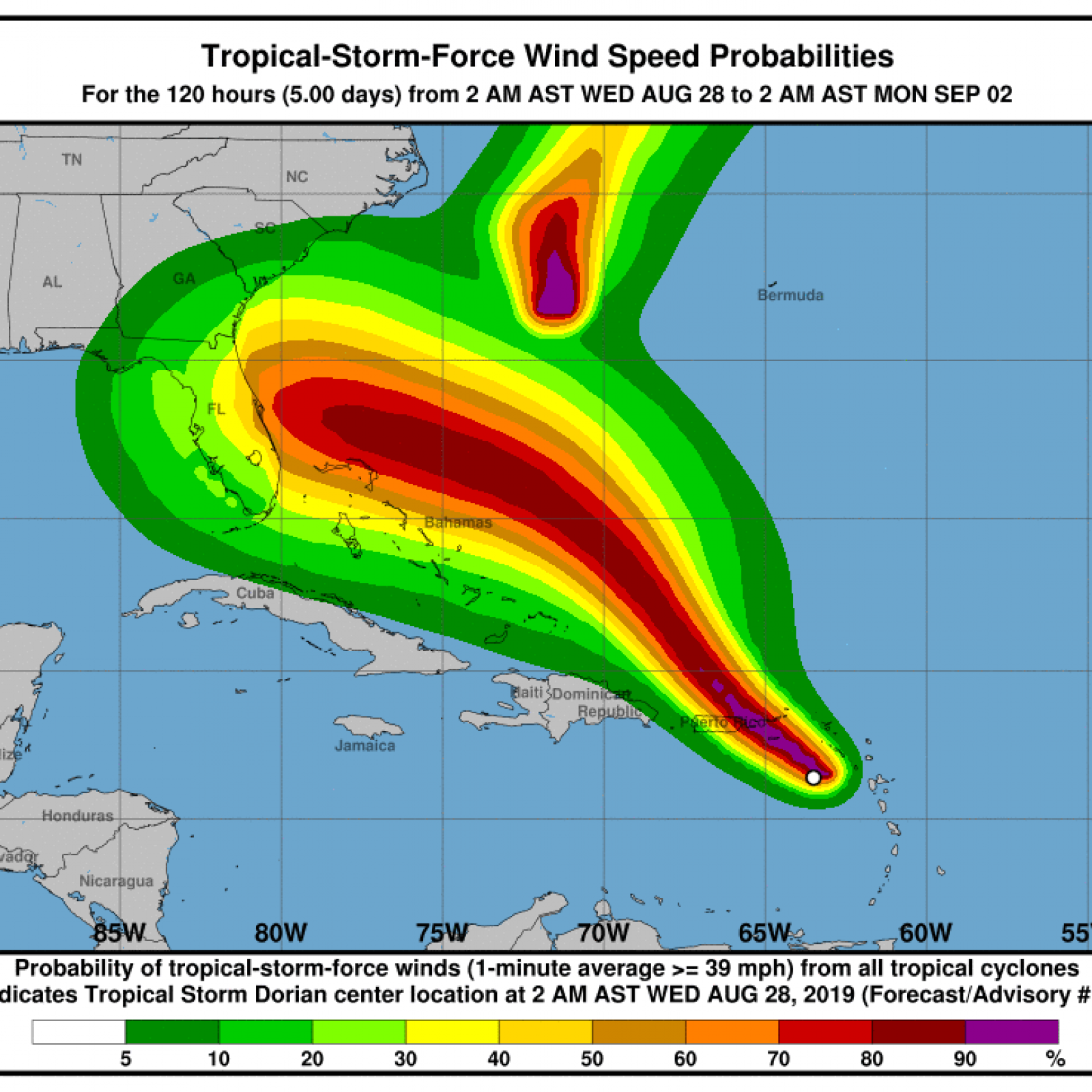 tropical storm dorian could hit florida as category 2