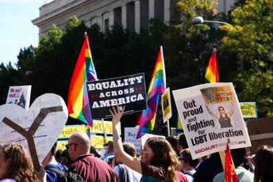 gay rights forum presidential protest