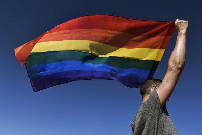 rainbow flag, lgbt, gay, lesbian, stock, getty