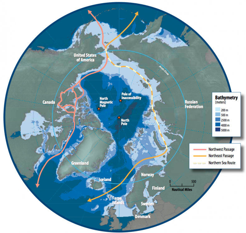 arctic northern sea route map