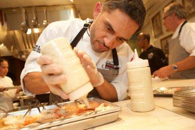 Abdiel Aleman cooking