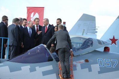 Vladimir Putin, Recep Tayyip Erdogan, fighter jet